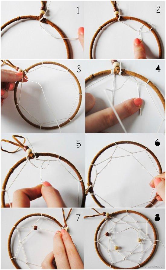 Как сделать круг в ловце снов