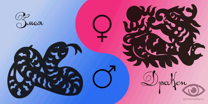 гороскоп мужчина змея женщина дракон