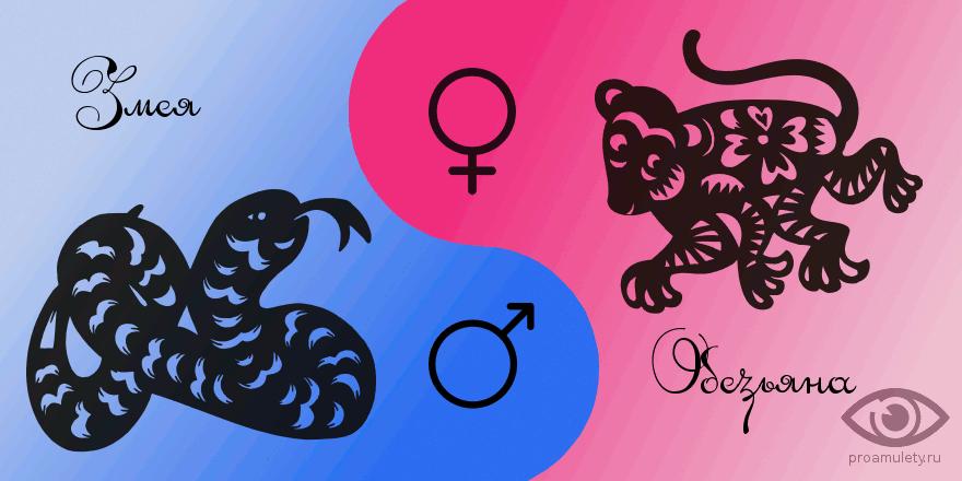 Сексуальная совместимость мужчина обезьяна и женщина змея