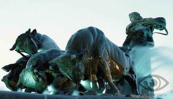 boginja-gefjon-fontan-statuja
