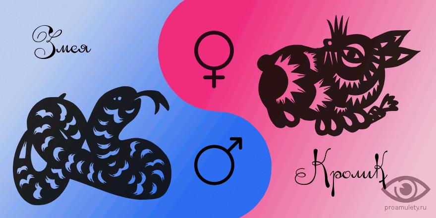 Сексуальная совместимость змеи и кролика